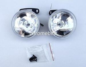 2-Universal-Front-Lights-12V-Spot-Fog-Halogen-Circle-Lamps-Car-Van-Bus-NEW-boxed