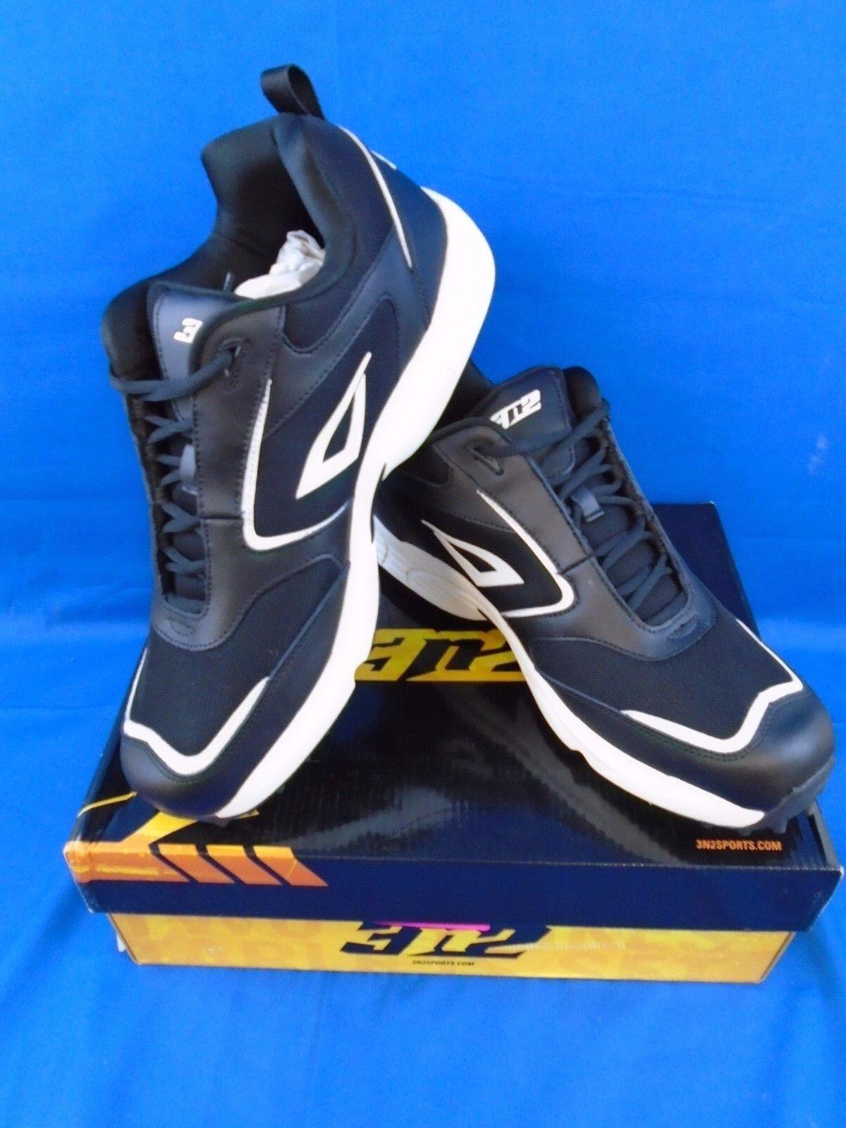 3n2 Mofo Turf Trainer schoenen zwart wit mannen's 14