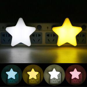 EU-US-Plug-Sensor-Control-LED-Star-Night-Lights-Wall-Lamps-for-Bedroom-Hallway