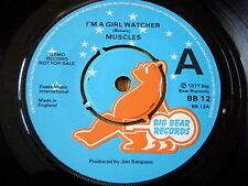 """MUSCLES - I'M A GIRL WATCHER    7"""" VINYL DEMO"""