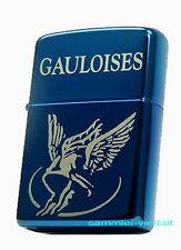 ZIPPO Feuerzeug GAULOISES in Blue Ice Ausführung Logo Zigaretten NEU OVP