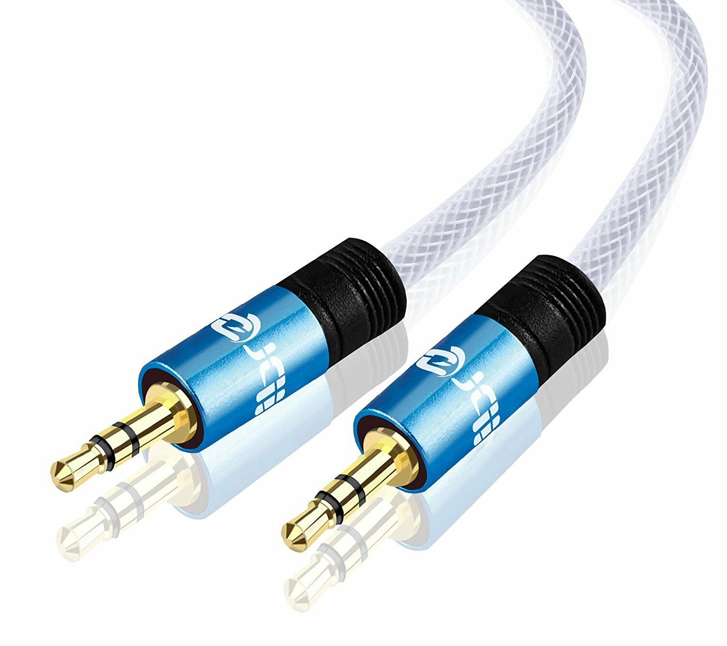IBRA® 7.5M 3.5mm to 3.5 mm Male Jack Audio IPOD AUX MP3 Gold Cable - Blue