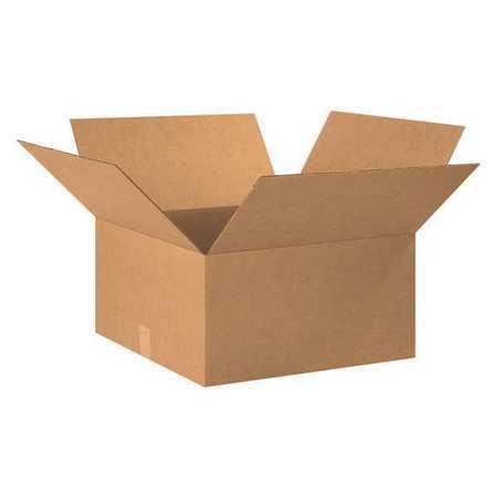 "Corrugated Boxes,22/""x20/""x10/"",Kraft,PK15 BOX USA 222010"