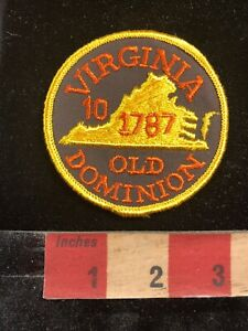 Vintage-10th-State-1787-Virginia-OLD-DOMINION-STATE-Patch-96M7