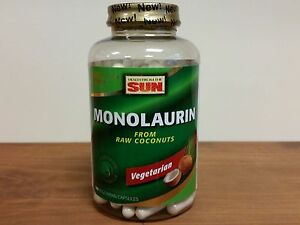 Details about Monolaurin Health from the Sun From Raw Coconuts 180 Capsules
