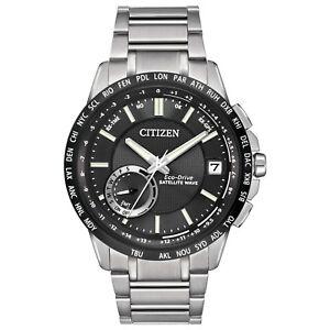 Citizen-Eco-Drive-Men-039-s-Satellite-Wave-Chronograph-44mm-Watch-CC3005-85E