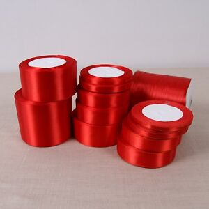 Red-Satin-Ribbon-Wedding-Party-Decoration-Gift-Wrapping-Christmas-Sewing