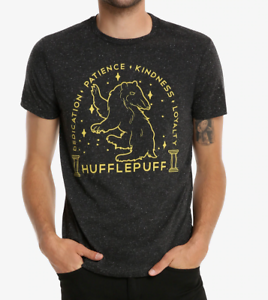Harry-Potter-Hufflepuff-Sketch-T-Shirt-Neuf-sous-licence-amp-Officiel