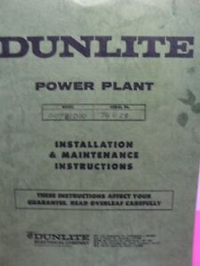 Dunlite-Power-Plant-Installation-And-Maintenance-Instructions