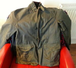 BARBOUR-WAX-JACKET-SIZE-SMALL-SKY-FALL-VG