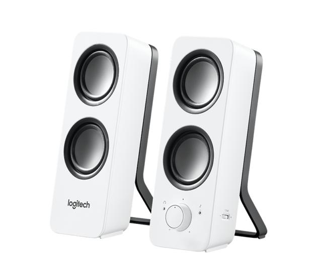 Logitech Z-200 Stereo-Lautsprecher, weiß (Voller Stereoklang)