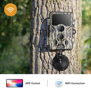 Campark Trail Game Camera 20mp WiFi Bluetooth Hunting Wildlife Cam Night Vision