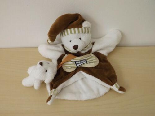 doudou ours blanc marron doudou et compagnie
