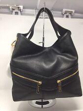 NWT MICHAEL KORS Jamesport Large Leather Black Shoulder Tote Handbag $368