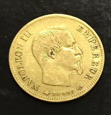Piece 10 Francs Or Napoléon 3 1856 A Empire Français  French Gold Coin