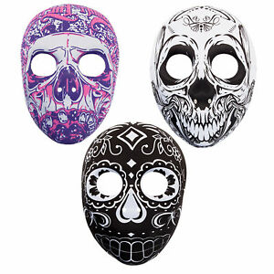 Halloween Fancy Dress Day Of The Dead Skull Moulded Mask Choose