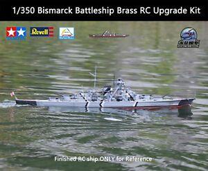 Details about 1/350 Bismarck Battleship Brass RC Upgrade Kit