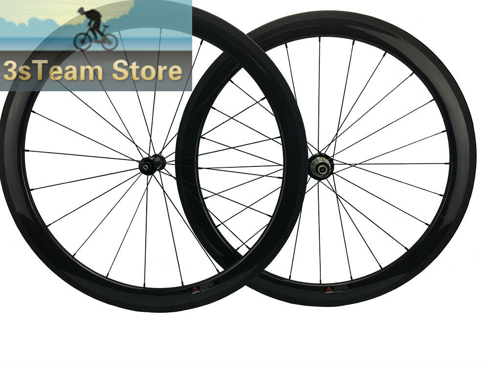 Straight Drag 50MM Carbon Road Bicycles Wheels Powerway R36 Cykel Clinger