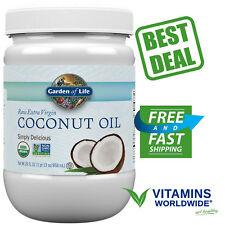 Garden of Life Organic Extra Virgin Cold Pressed Coconut Oil 29oz Plastic