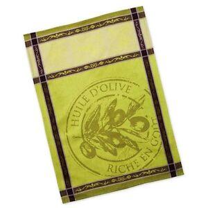 dish towel tea towel french inspired design huile d olive rh ebay com