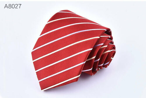 Fashion Men/'s Necktie Jacquard Woven Tie Silk New Narrow Wedding Skinny Slim
