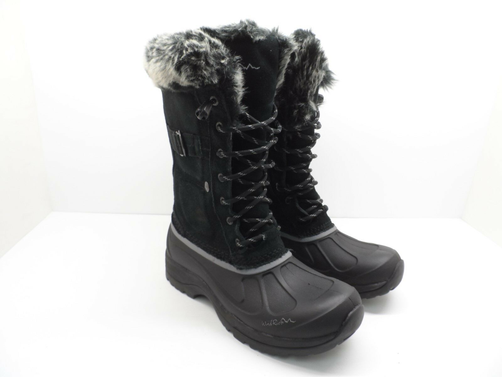 WindRiver Women's Snowdrift HD2 Water-Resistant Shell Winter Boot Black Size 8M
