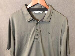 Travis-Mathew-Men-s-Short-Sleeve-Gray-White-Polo-Shirt-Size-2XL-XXL-Golf-Shirt
