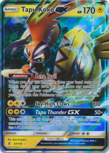 47//145 Ultra Rare Sun /& Moon: Guardians Rising NM 1 x Pokemon Tapu Koko GX
