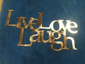 Live Love Laugh connected Metal Wall Decor