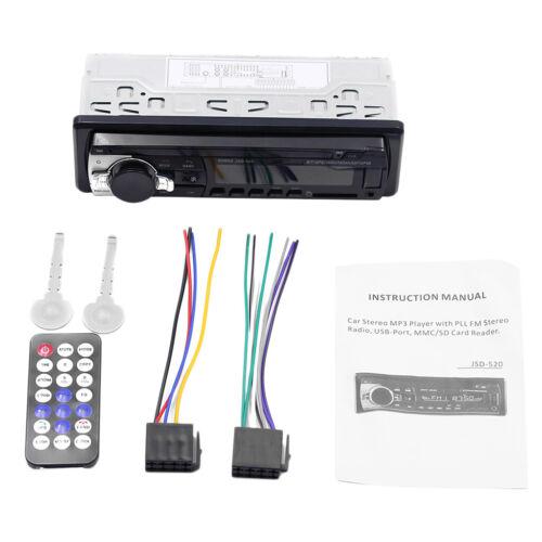 JSD 520 1DIN Auto MP3-Player Bluetooth HIFI Audio Stereo Radio FM AUX In