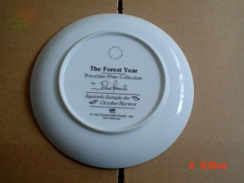 The Forest Year SQUIRRELS SAMPLE THE OCTOBER HARVEST Collectors Plate