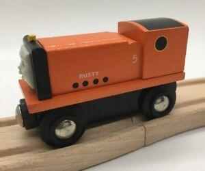 BRIO-BRAND-Thomas-Wooden-Railway-Rusty-1996-ADULT-OWNED-Britt-Allcroft-Train-Set