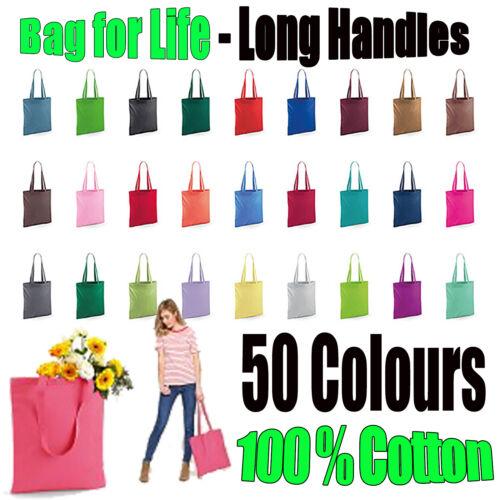 Shopping bag Bright Tote Borsa Manico lungo per la vita di cotone
