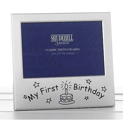 """""""il Mio Primo Compleanno"""" In Raso Argento Foto Telaio-shudehill Giftware-l Giftware It-it"""