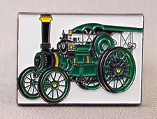 Metal Enamel Pin Badge Brooch Traction Engine Steam Engine NTET Green