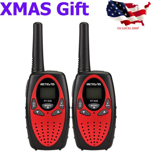 9d3cd52acbf 2x Retevis RT628 Kids Walkie Talkie UHF 22CH LCD Display 2-Way Radio Xmas  Gift