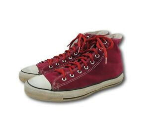 92e5f52fcf30 Vintage USA Made CONVERSE All Star Burgundy Red Canvas Low Top ...