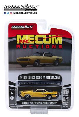 Mecum Auctions 1:64 NEU Greenlight 37170-C Chevrolet Yenko Copo Camaro gelb °