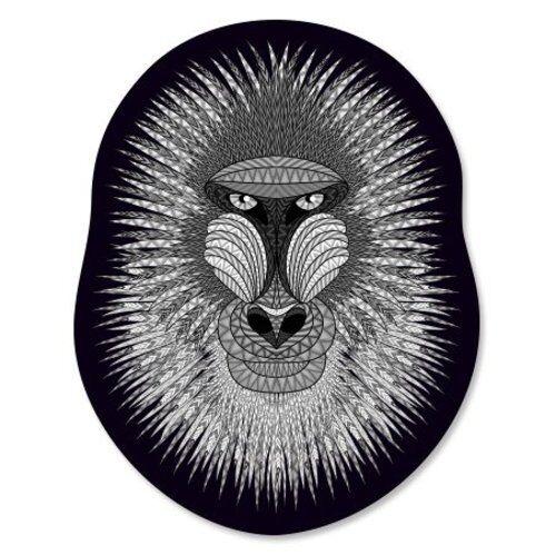SELECT SIZE Mandrill Vinyl Sticker