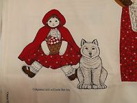 Cranston Once Upon A Time Little Red Riding Hood Storybook Doll Cut & Sew