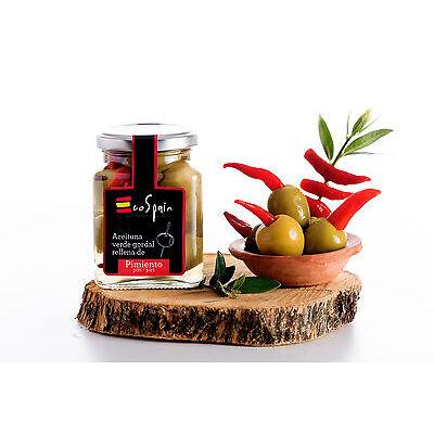 3 Und. Aceitunas rellenas de Pimiento piri-piri para aperitivos y canape GOURMET