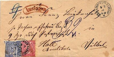 Wächtersbach - Bahnhof, Ndp Brief Als Postvorschussbrief Nach Vilbel, 1868