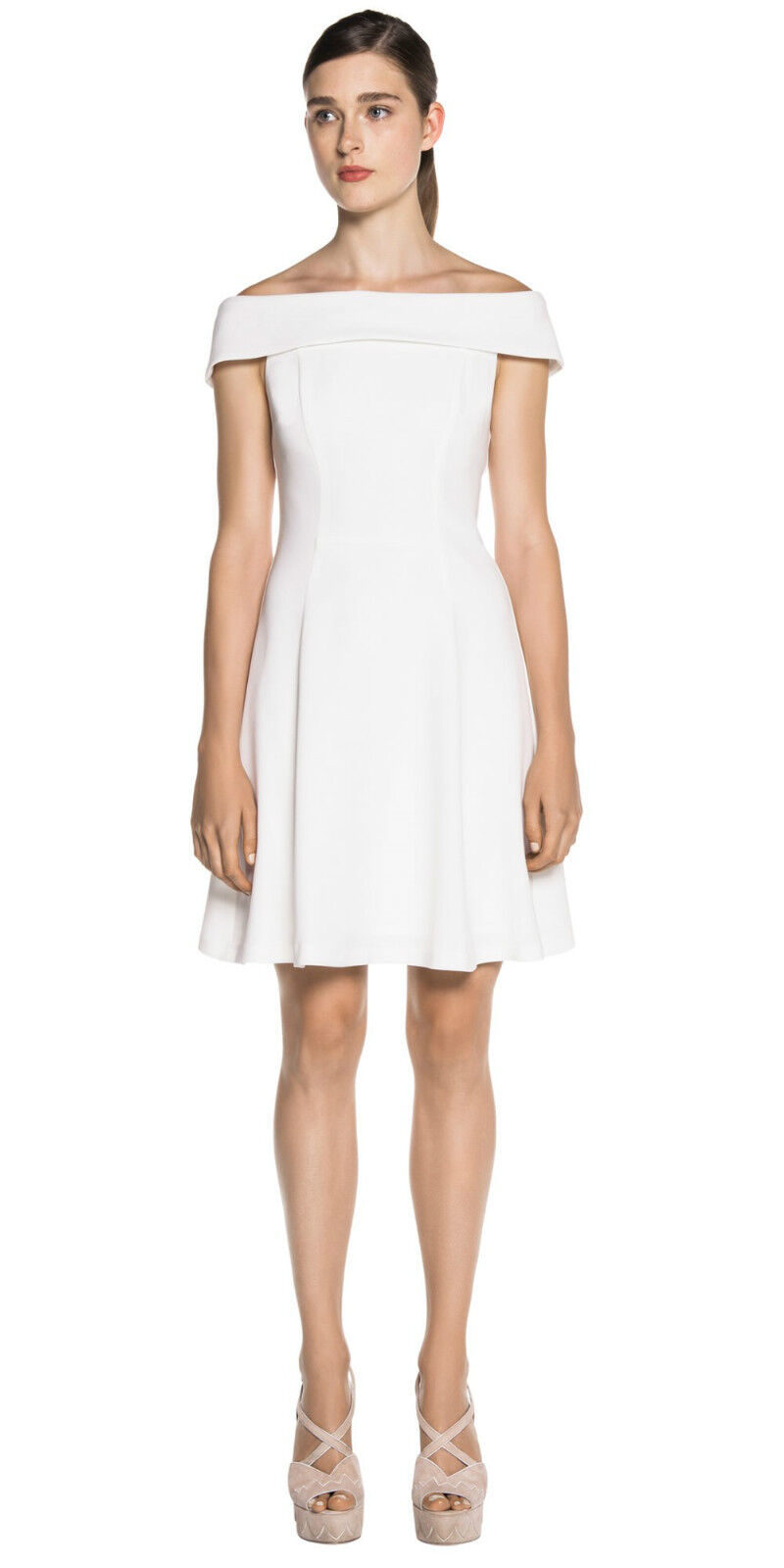 BNWT CUE Off the shoulder flare dress Sz 12 and 14 RRP 279