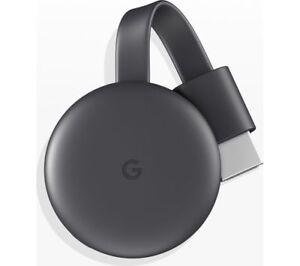 GOOGLE Chromecast - Third Generation, Charcoal - Currys