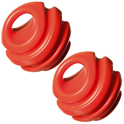 Schlussverkauf 2x Hundeball Orange Hunde Ball Spielball Hundespielzeug Wurfball Kauspielzeug