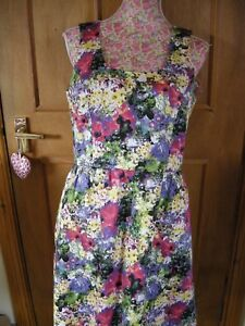 WOMENS-LADIES-SLEEVELESS-SHORT-FLOWER-GOING-OUT-SMART-DRESS-ONLY-SIZE-12-USED