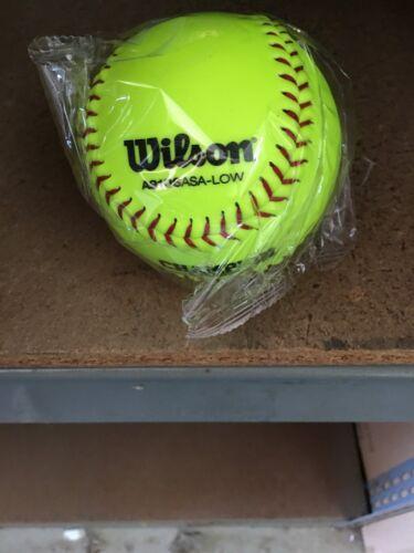 "NEW sold by the dozen Wilson A9106BASALOW Softballs 12/"" Practice Balls"