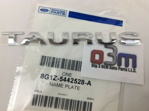 "20082009 Ford TAURUS Rear Chrome ""TAURUS"" NAMEPLATE Emblem FEO 8G1Z5442528A"