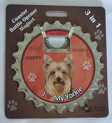 6 Coasters Little Paws Tara Yorkie Yorkshire Terrier Dog Arora UK Bone Tag