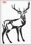 Big Ciervo Macho Ciervos Stencil Mylar A4 hoja fuerte Reutilizable Arte Arte Pared Deco